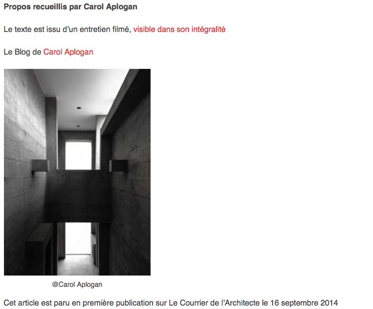 CHRONIQUES ARCHITECTURE LUIS LONGHI
