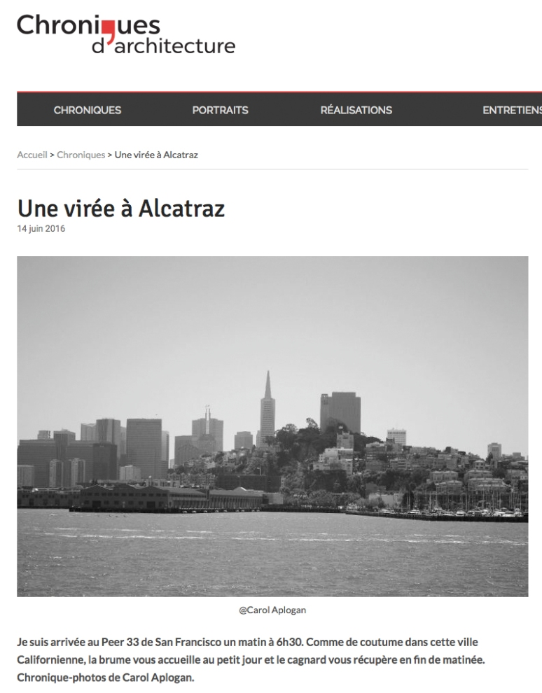 Alcatraz chroniques d'architecture